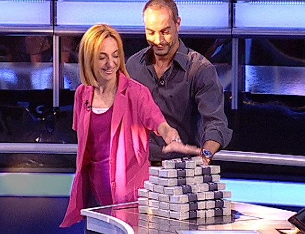 Luisa y su hermano Juan en el programa Atrapa un millón